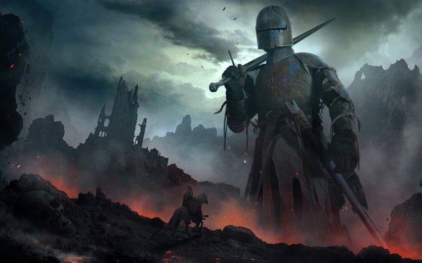 Fantasy Giant Knight Warrior Sword Armor HD Wallpaper | Background Image
