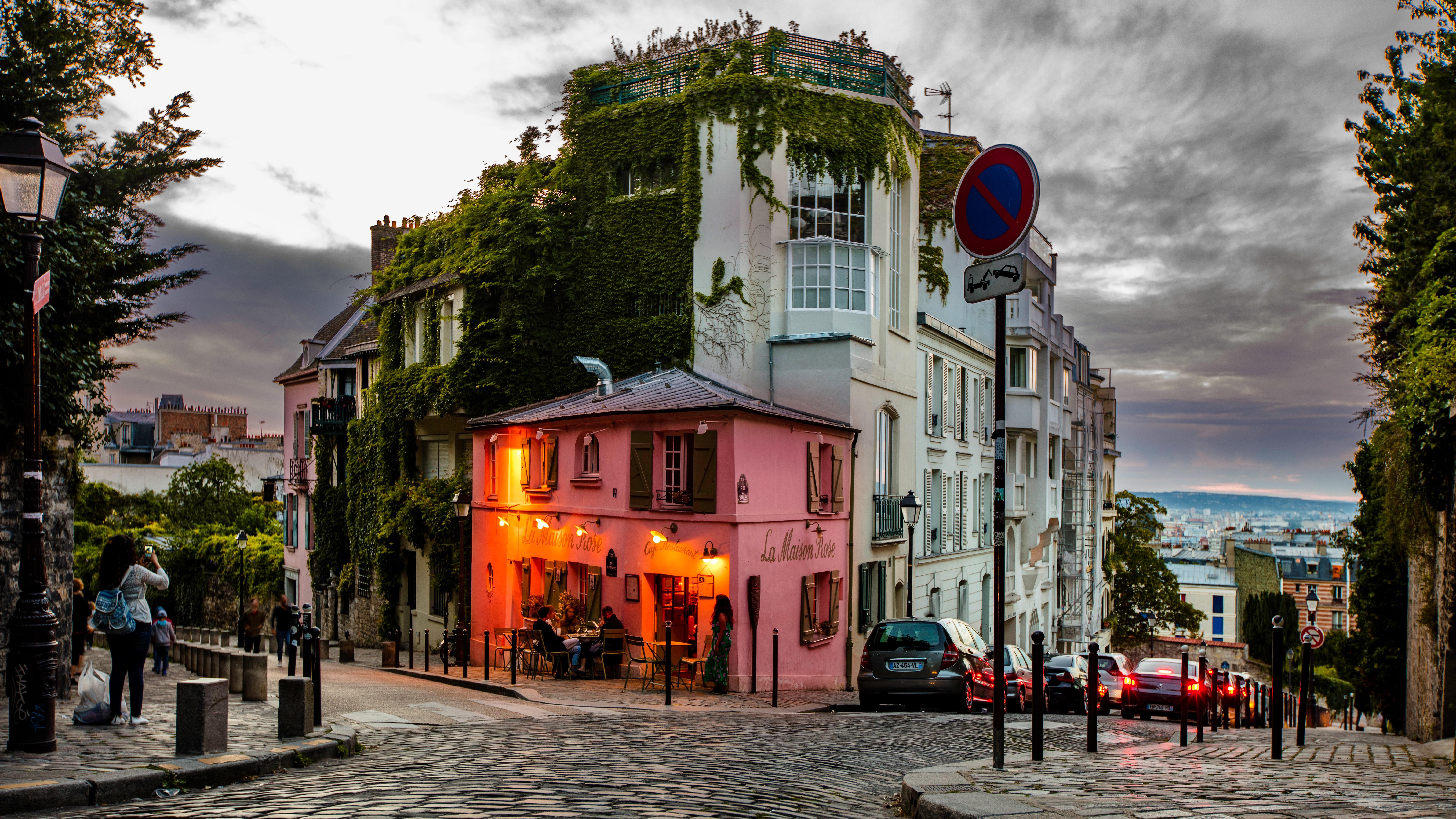 Restaurant In Paris 8k Ultra Hd Wallpaper Background Image