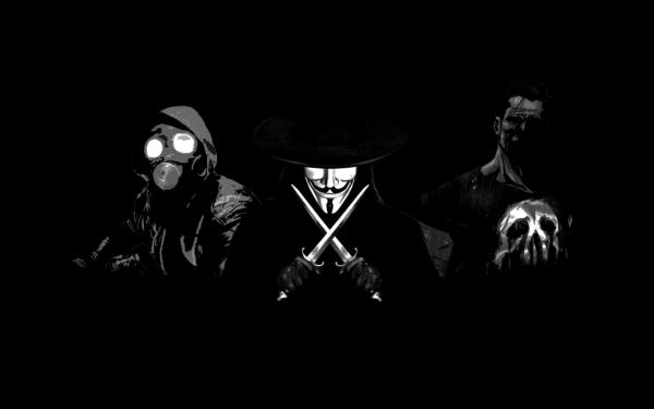 Comics Crossover Punisher The Awakener V for Vendetta Warframe HD Wallpaper | Background Image