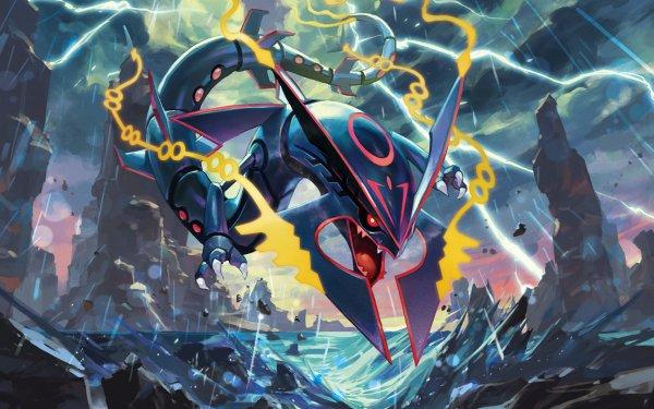 Video Game Pokémon: Omega Ruby and Alpha Sapphire Pokémon Mega Rayquaza HD Wallpaper | Background Image