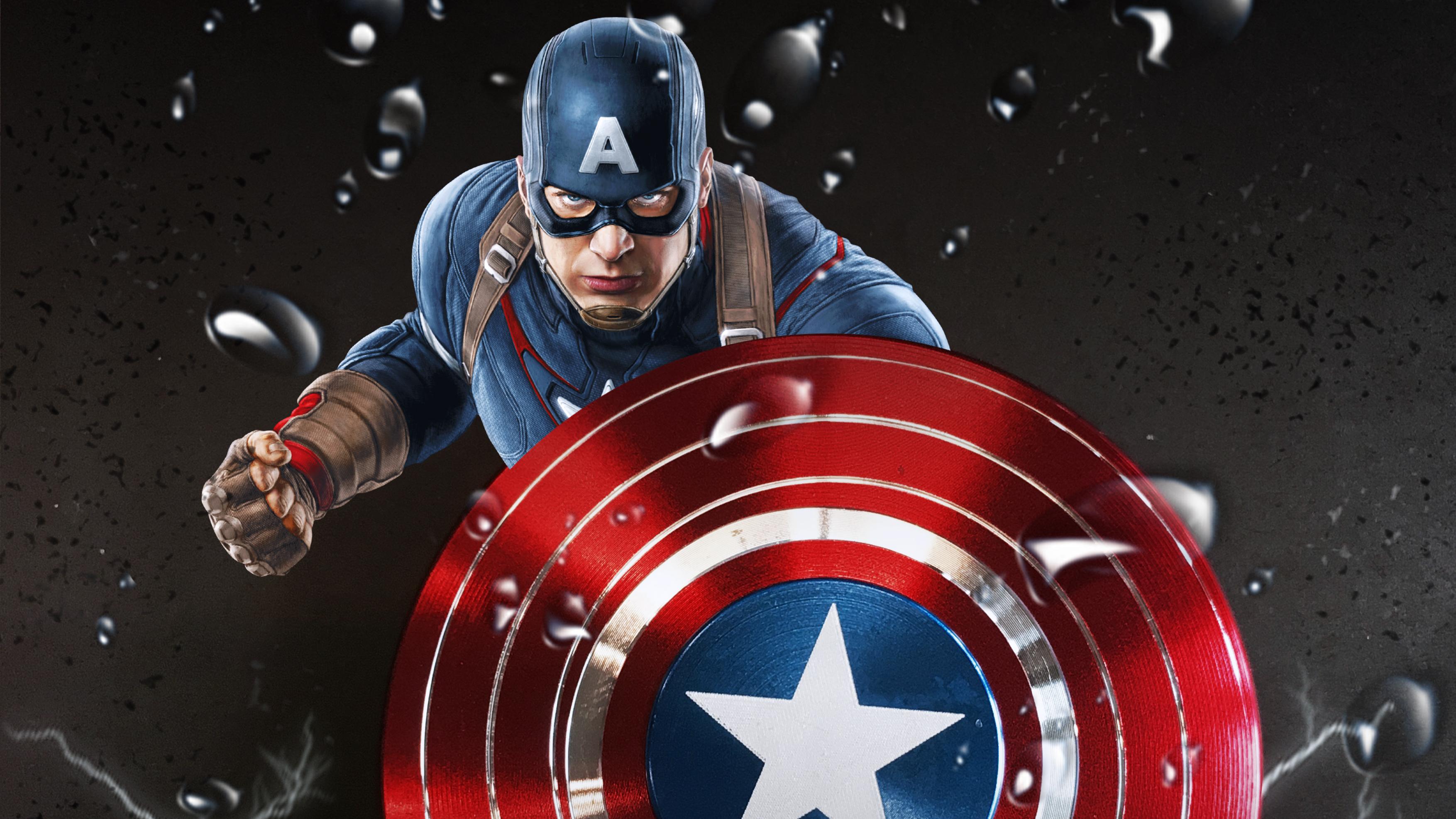 Captain America Hd Wallpaper Background Image 3508x1973