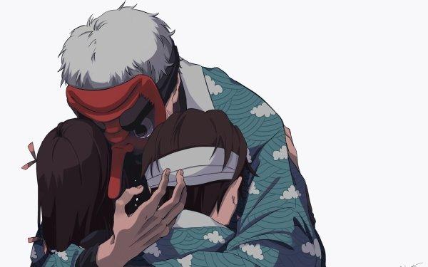 Anime Demon Slayer: Kimetsu no Yaiba Tanjiro Kamado Sakonji Urokodaki Nezuko Kamado Fondo de pantalla HD | Fondo de Escritorio
